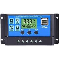 Thlevel 30A Controlador de Carga Solar 12V/24V Panel Solar Inteligente Controlador de Carga con Pantalla LCD y Doble…