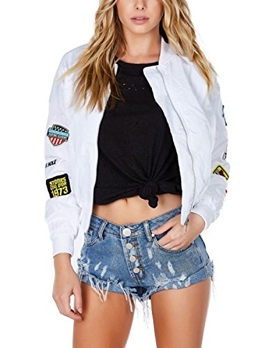 Cotton Blend Bomber Jacket - 1