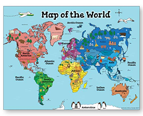 World Map Poster Kids