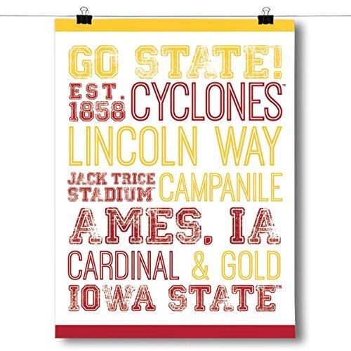Inspired Posters Iowa State University Subway Art - White Poster