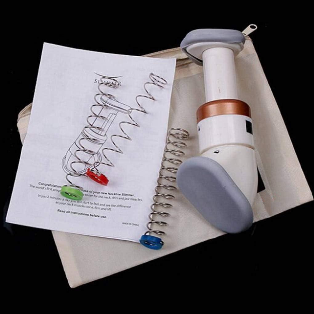 Junecat Portable Chin D/écollet/é Amincissante exerciseur Double Menton R/éducteur Jaw Massager Face Lift Outil 3 Ressorts