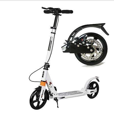 HH- Scooter Scooter Blanco con Ruedas Grandes Y Frenos ...