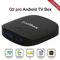 Leelbox Q2 pro Android 6.0 TV Box 2GB 16GB デュアル-WIFI2.4GH...