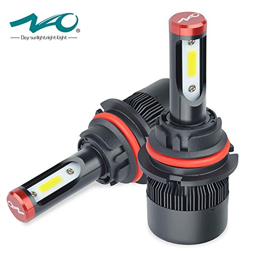 NAO 9004 HB1 LED Headlight Bulbs 60W/Pair 7600LM High/Low Beam Extremely Bright LED bulbs All-in-One Conversion Kit ()