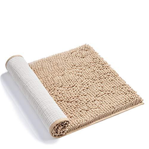 AmazerBath Bath Mat, Chenille Bathroom Rug, Non-Slip and Soft Shaggy Bath Rug Bathroom Mat, Ultra Water Absorbent…