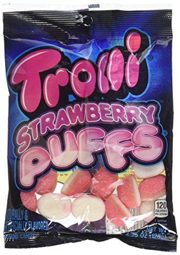 (Product Of Trolli, Peg Bag Strawberry Puffs, Count 12 (4.25 oz) - Sugar Candy / Grab Varieties & Flavors)