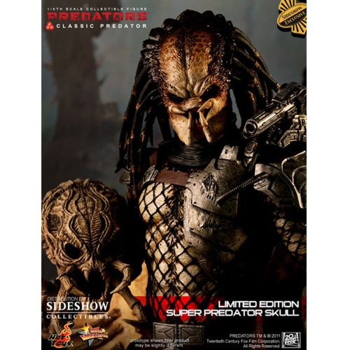 Classic Predator with Predator Skull 1:6 Scale Hot Toys Exclusive Figure