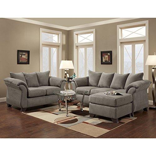 SOFA TRENDZ Cailyn 3-piece Grey Sofa/ Chaise Set