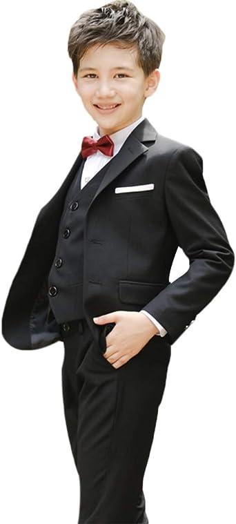 Amazon.com: Conjunto de traje formal para niños de 4 piezas ...