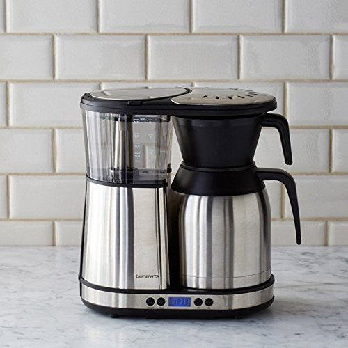 Bonavita BV1900TD Automatic Programmable Coffee Brewer, Silver