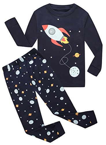 IF Pajamas Little Boys Long Sleeve Sets 100% Cotton Sleepwears Kids Pjs Size (Cotton Kids Pajamas)