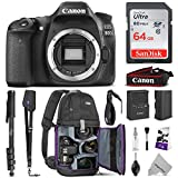Canon EOS 80D DSLR Camera Body w/Advanced Photo & Travel Bundle - Includes: Canon USA Warranty, Altura Photo Backpack, SanDisk 64gb SD Card, Monopod, Neck Strap and Cleaning Kit