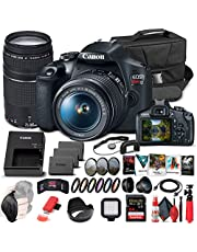 $779 » Canon EOS Rebel T7 DSLR Camera with 18-55mm and 75-300mm Lenses (2727C021) + 64GB Memory Card + Corel Photo Software + 2 x LPE10 Battery + Card Reader + LED Light + Filter Kit + More (Renewed)