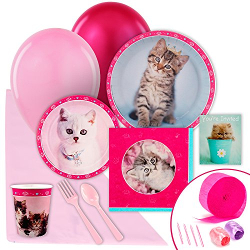 - BirthdayExpress Rachael Hale Glamour Cats Party Supplies - Value Party Pack