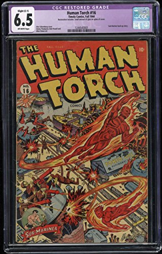 Human Torch #16 CGC Restored 6.5 Slight C-1 OW Pages Sub Mariner back up - Backup Page