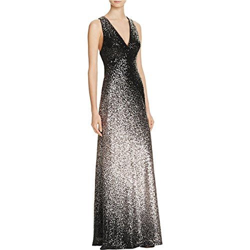 Avery G Womens Sequined Ombre Formal Dress Black (Ombre Silk Dress)