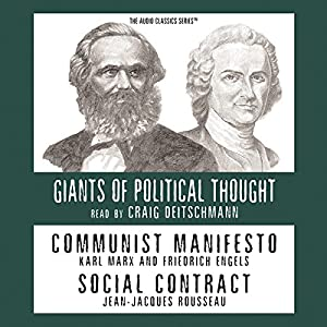 Communist Manifesto and Social Contract (Knowledge Products) Giants of Political Thought Series Audiobook