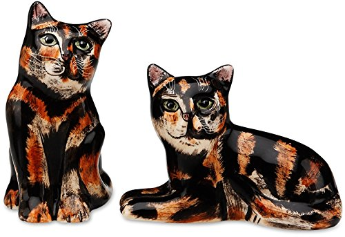 Rescue Me Now Tortoise Shell Cat Salt and Pepper Shaker Set by Rescue Me Now