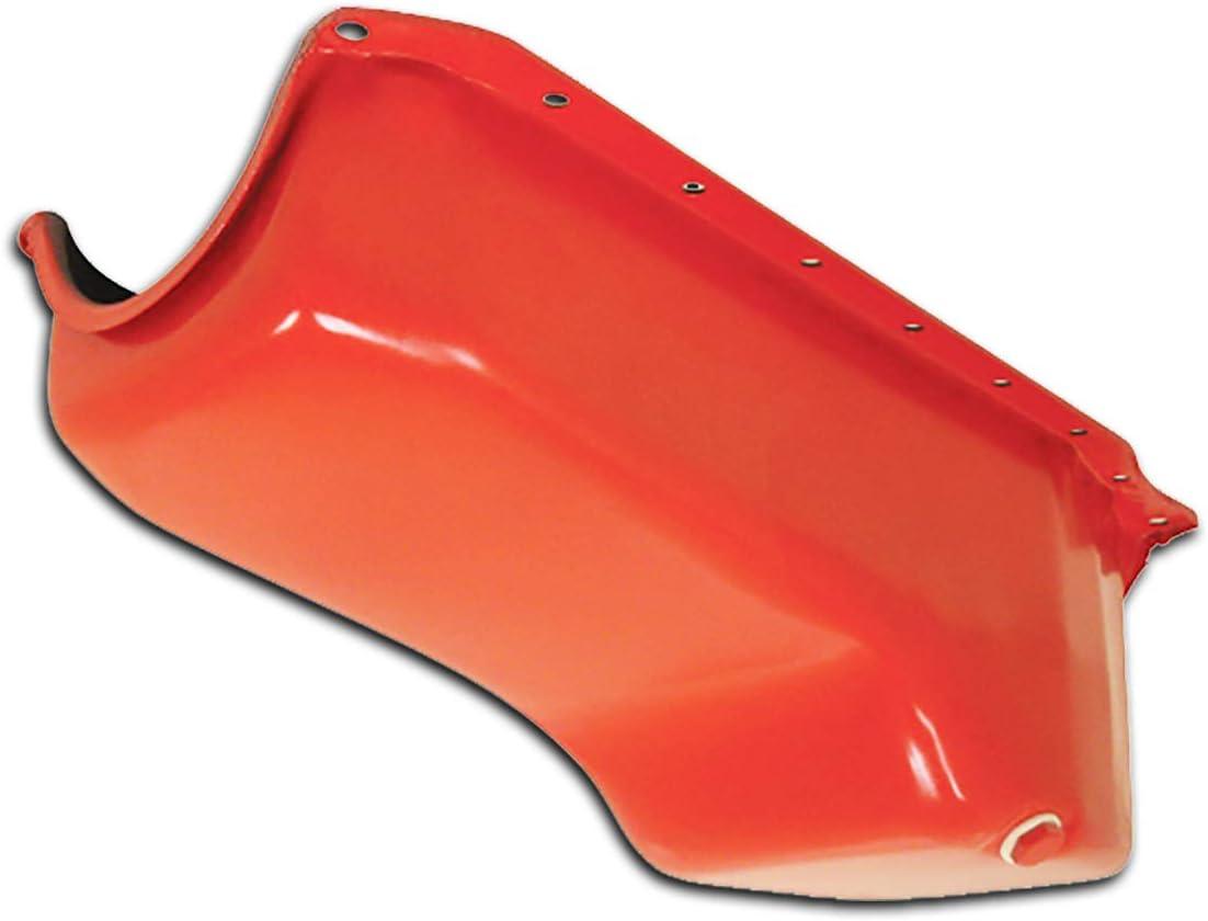 Fits 1986-1902 Chevy SB Small Block 305-327-350 Stock Capacity Oil Pan Orange