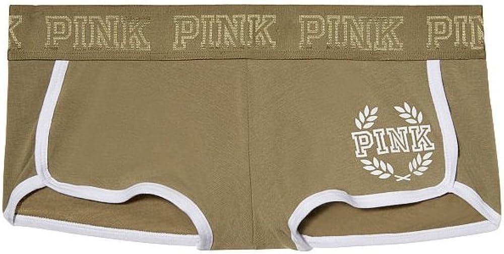 Small Victorias Secret PINK Logo Boyshort Panty Light Jade