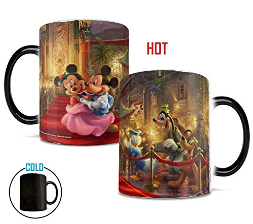 Mickey Mouse Coffee Mug (Morphing Mugs Thomas Kinkade Mickey and Minnie in Hollywood Heat Reveal Ceramic Coffee Mug - 11 Ounces)