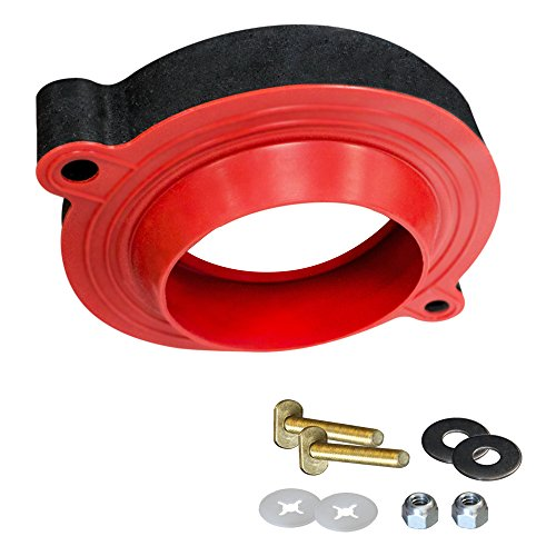 Flange Toilet Gasket - Korky 6000BP Universal Toilet WaxFree Seal with Hardware - Toilet Installation Made Easy - Made in USA
