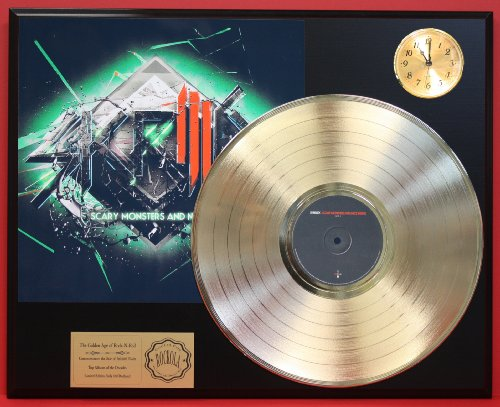 Skrillex Scary Monsters And Nice Sprites LTD Edition 24Kt Gold LP Record & Clock Display Quality Collectible from Gold Record Outlet