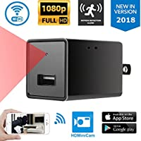 Home Security Hidden Camera By iMiniCam| USB Charger High Definition 1080P Full HD Camera With Wi-Fi, iOS Android App & Motion Detector | Ultra-Long Stand-By Time