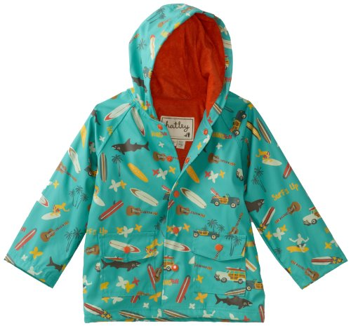 Hatley Little Boys' Children Surf's Up Rain Coat