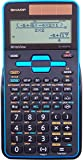 Sharp EL-W535TGBBL 16-Digit Scientific Calculator with WriteView, 4 Line Display, Battery and Solar Hybrid Powered LCD Display, Black & Blue