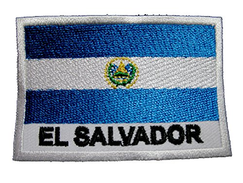 Republic of the Savior El Salvador Salvadoran Flag Sew on Patch Free Shipping