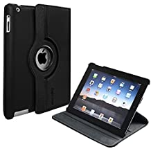 iPad Case iPad 2/ 3/ 4 Case - Toprime 360 Degree Rotating Stand Smart Case Cover for iPad 2nd Generation iPad 3rd Generation iPad 4th Generation Black