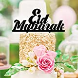 Fashion Eid Mubarak Ramadan Islamic Cake Topper Glitter Cake Topper Hajj Mubarak Decor With Free