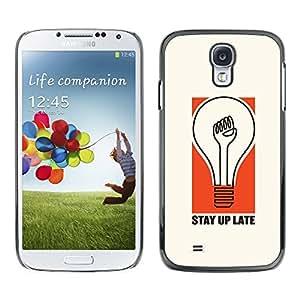[Neutron-Star] Snap-on Series Teléfono Carcasa Funda Case Caso para Samsung Galaxy S4 [Bombilla estadía Actitud Cita Vida]