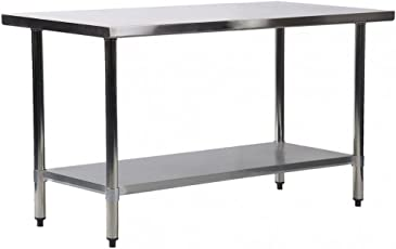 Amazon worktables workstations food service equipment bestmassage 24quotx36quot stainless steel kitchen work table commercial kitchen restaurant table watchthetrailerfo