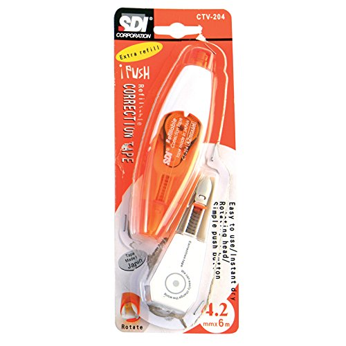 SDI Correction Tape Refillable CT-204 with 1 pcs. Refill (CTV-204), Pack 2 set