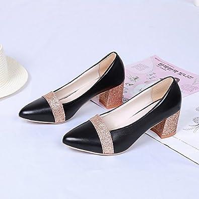 Frauen Schuhe spitz flach Mund, schwarz, 37