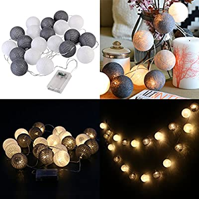 Cotton Lights Ball 20 Led Aa Battery Powered String Lights For