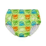 i play. Snap Reusable Absorbent Swimsuit Diaper,Light Green Crab,6mo
