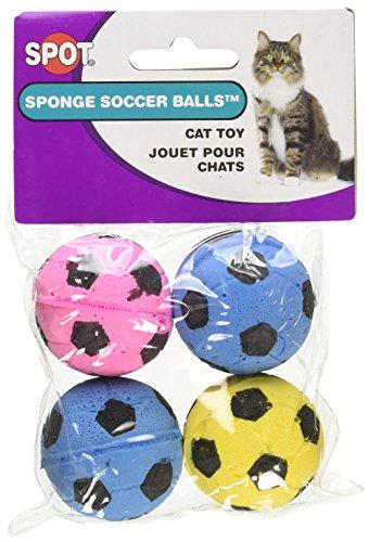 - Ethical Sponge Soccer Balls Cat Toy, 4-Pack