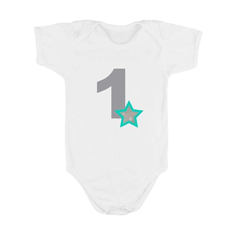 Body o Camiseta Primer Cumpleaños 1 Año/Número 1 para Bebes Niños ...
