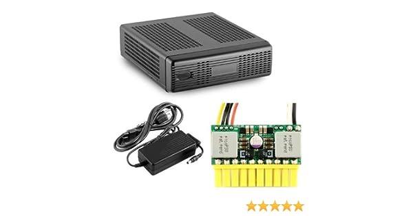 Minibox M350 Universal Mini-ITX Enclosure With PICOPSU-80 60W Adapter Kit Black Drive Bays