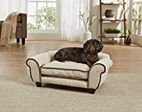 Enchanted Home Pet Velvet Cleo Sofa in Sand
