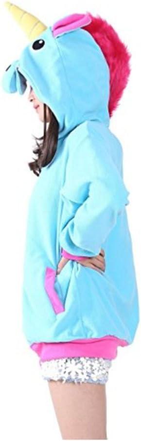 Rose S Katara 1791 Sweat /à Capuche Licorne Costume D/éguisement Kigurumi Animaux Pull Chaud /à Manches Longues