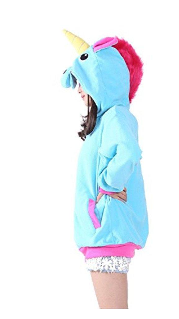 Violet S Katara 1791 Sweat /à Capuche Licorne Costume D/éguisement Kigurumi Animaux Pull Chaud /à Manches Longues