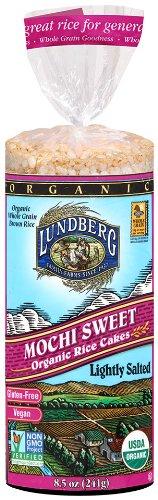 Brown Cake Rice (Lundberg Family Farms Organic Mochi Sweet Rice Cake, 8.5 oz)