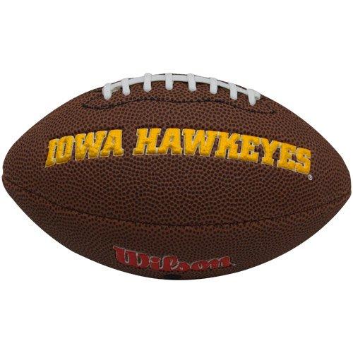 Wilson NCAA Iowa Hawkeyes Team Football, Mini, Brown (Football Hawkeyes Brown Iowa)