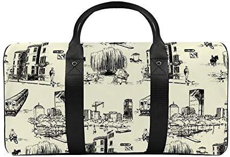ボストンブラック1 旅行バッグナイロンハンドバッグ大容量軽量多機能荷物ポーチフィットネスバッグユニセックス旅行ビジネス通勤旅行スーツケースポーチ収納バッグ
