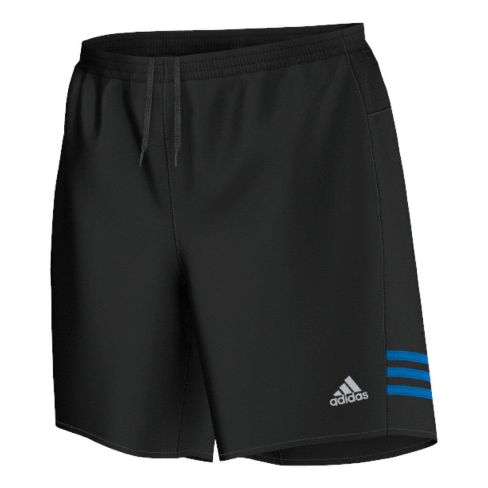 adidas Mens Running Response Shorts (Black/Shock Blue, XX-Large/7)
