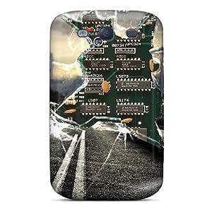 Fashion Tpu Case For Galaxy S3- Broken Screen Defender Case Cover